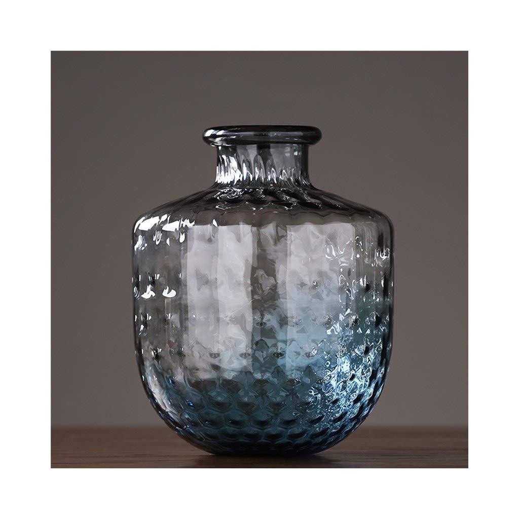 ガラス花瓶現代のミニマリストの装飾品アメリカのリビングルームのテレビキャビネット挿入花瓶の装飾 (Size : 26cm*35cm) B07S9S3KXF  26cm*35cm