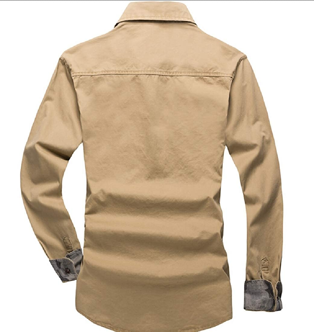 Keaac Mens Long Sleeve Military Style Tactical Shirts Cargo Work Tops
