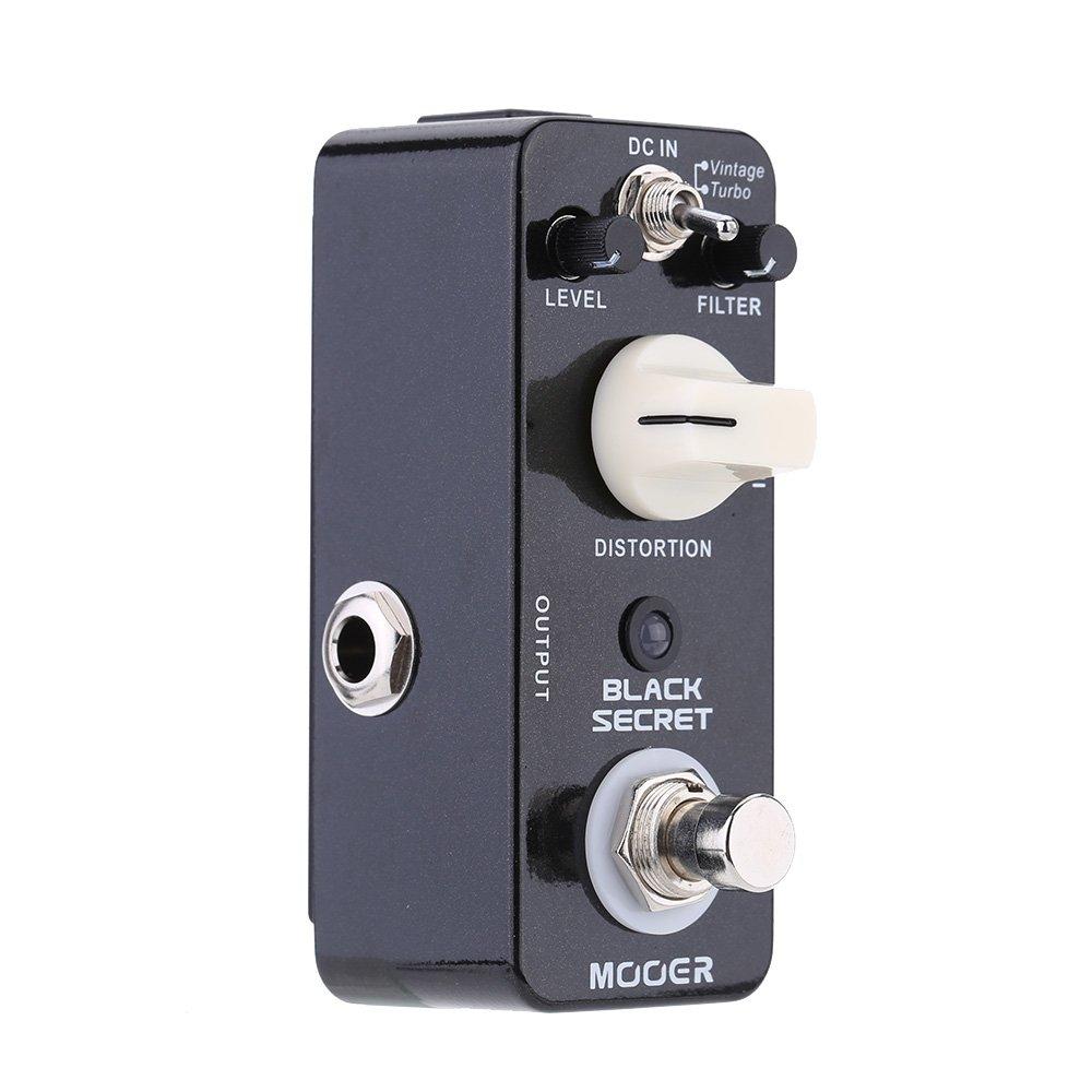 Muslady Mooer Guitarra Eléctrica Secreto Micro Mini Distorsión Efecto Pedal True Bypass,Negro: Amazon.es: Instrumentos musicales