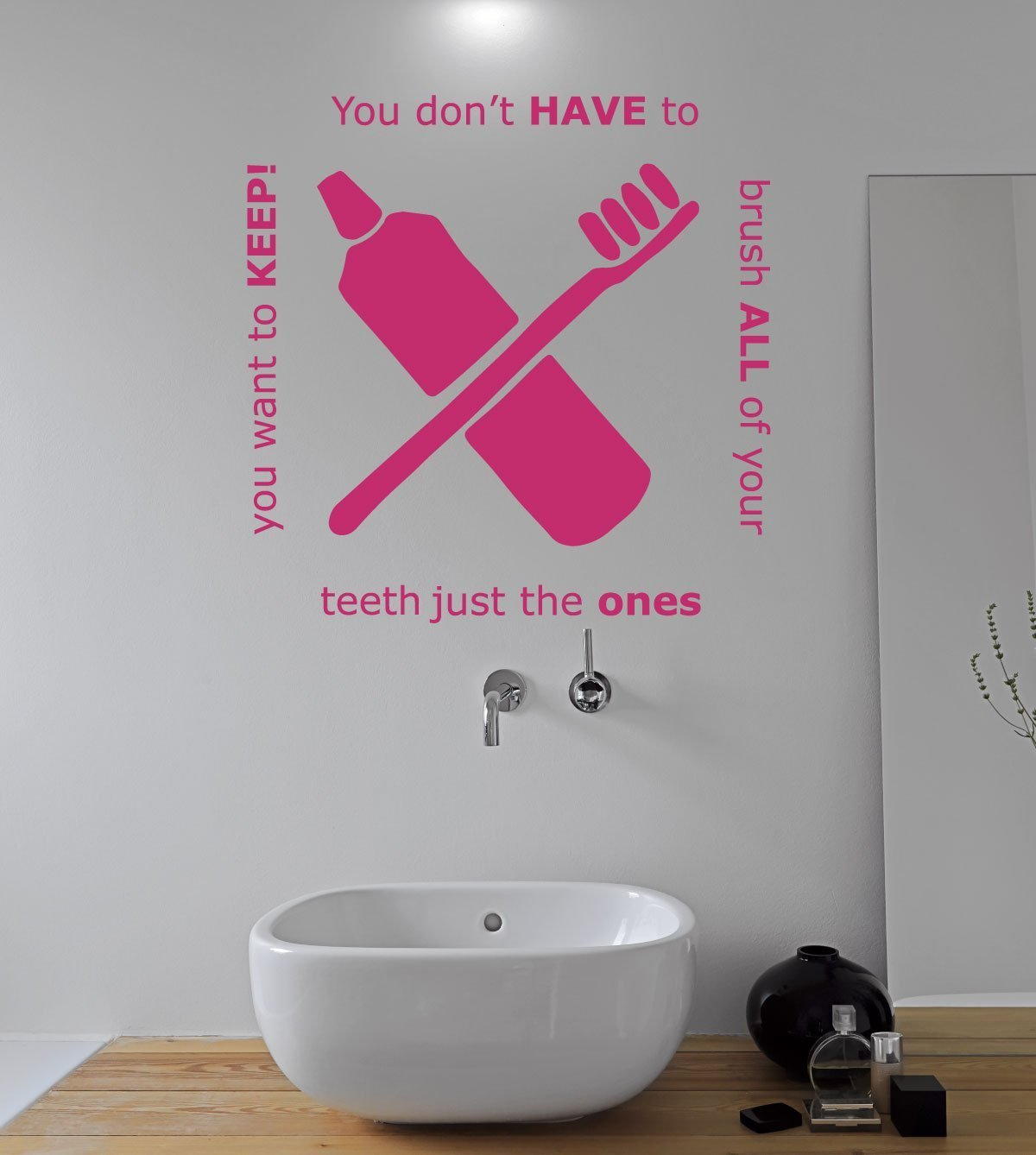 Amazoncom Bathroom Decals For Wall You Dont Have To Brush All