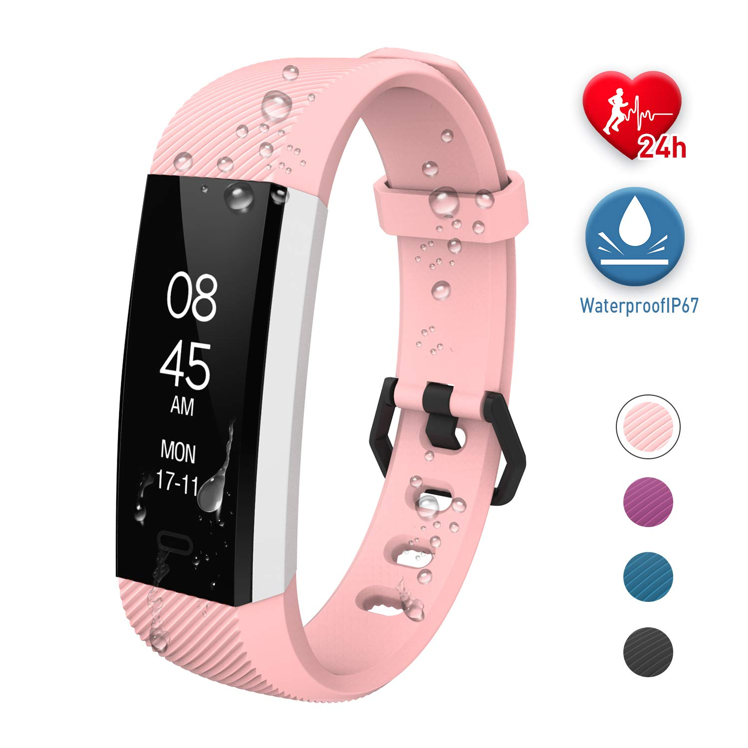 Fitpolo Fitness Tracker Waterproof with Heart Rate Monitor, Activity Tracker Smart Watch with Sleep Monitor, Pedometer for Kids Men Women