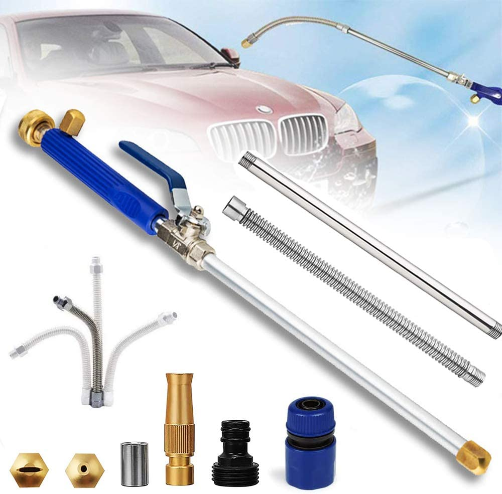 Hydrojet High Pressure Power Washer Wand, Water Jet with Hose End, Garden Sprayer with Water Hose Nozzle for Car Washing or Garden Cleaning (b)