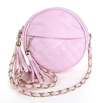 6874d289c1b48 JINM Mini Lady Fashion Schultertasche Handtasche Kette Leder Sling Bag  Quasten