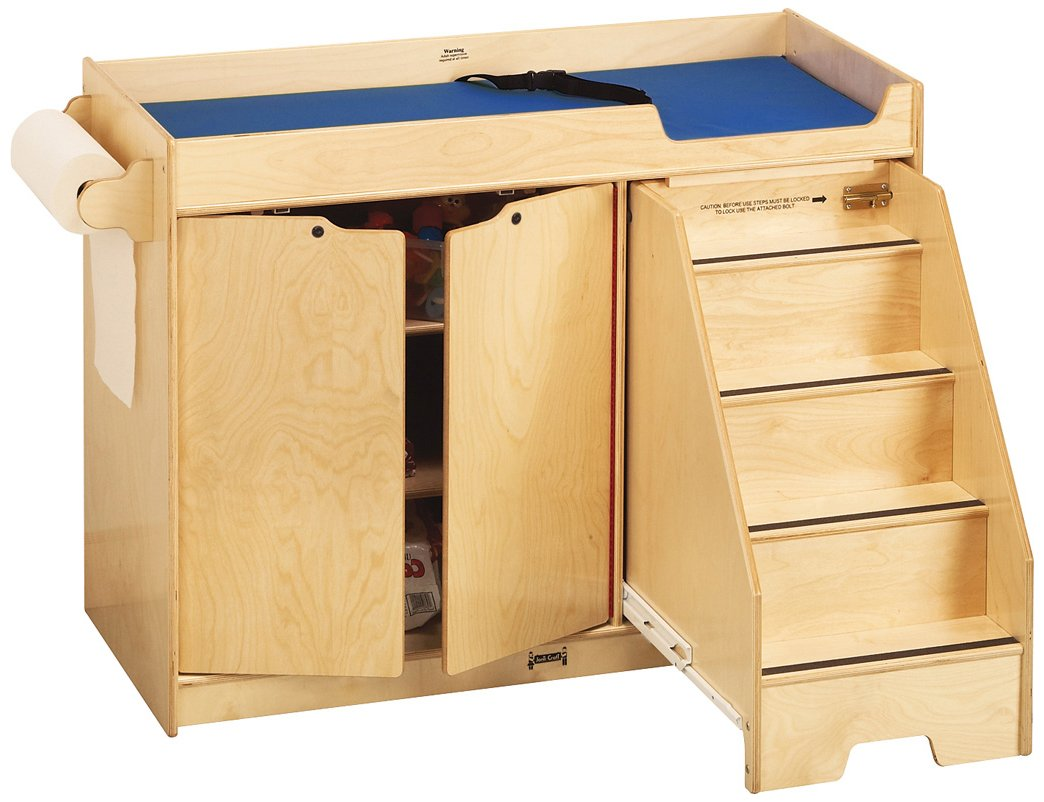 Jonti-Craft 5137JC Changing Table with Stairs, Right by Jonti-Craft