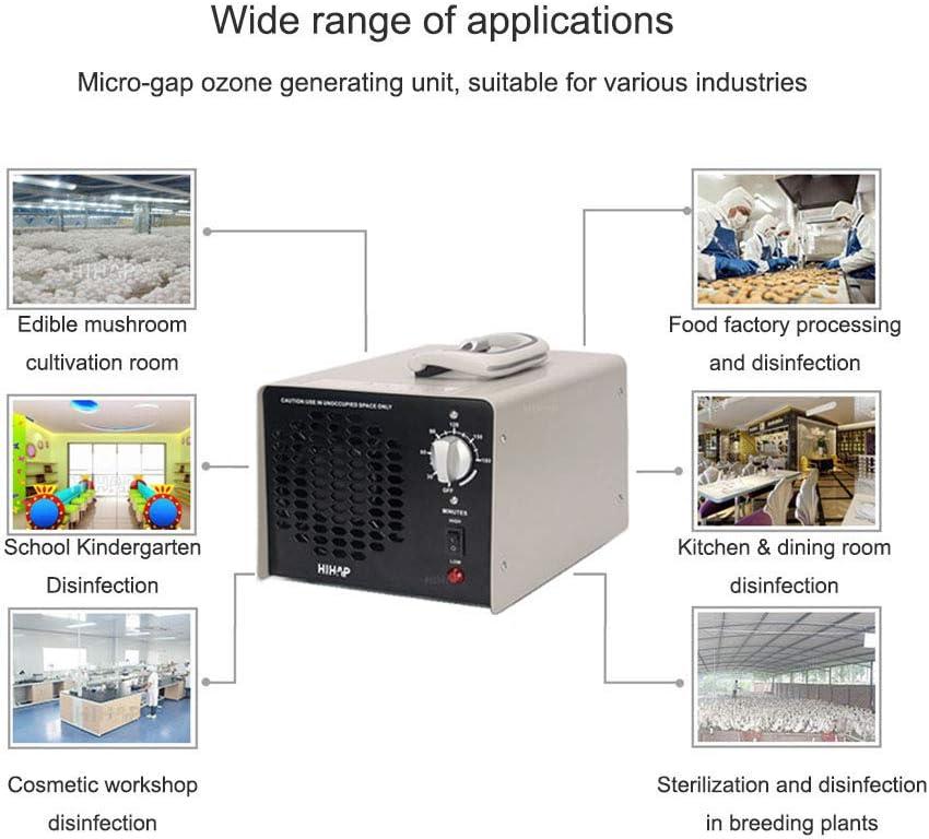 H purificador de Aire Industrial O3 esterilizador Desodorante para el hogar DJXLMN Generador de ozono Comercial 30G