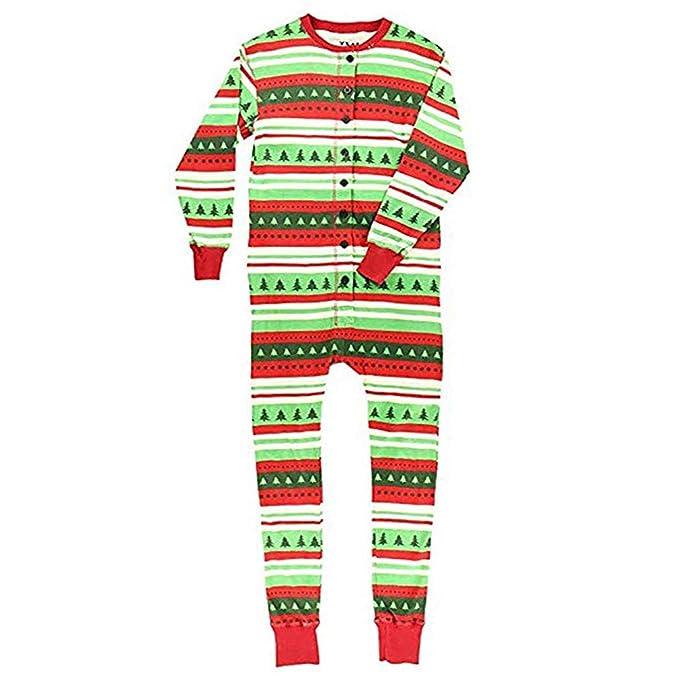 zhxinashu Pijamas Trajes Familiares Conjunto de Navidad - Coincidencia Padre-Hijo Manga Larga Ropa de