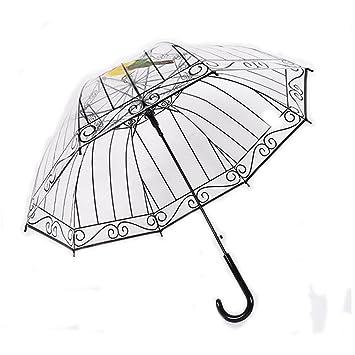 SEABECCA Paraguas Umbrella Umbrella plegable Paraguas de regalo Parasoles transparentes , beard , 55cm*8k