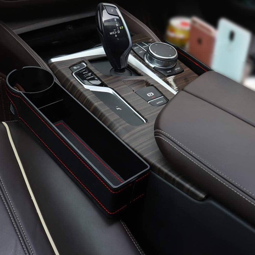 GLOBALDREAM Universal Auto Seat Gap Organisateur Bo/îte De Rangement Console C/ôt/é Poche en Cuir Si/ège Crevasse Bo/îte De Rangement Seat Gap Organisateur De Poche