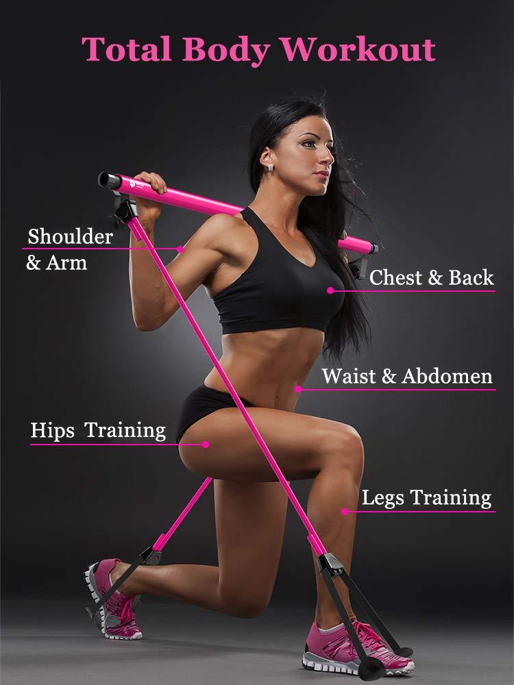 Amazon.com: PLAFIT Barra de Pilates Ajustable Yoga Pilates ...