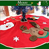 GFTSTORE Christmas Tree Skirt for Christmas Holiday Party Decoration - Embroidery Pattern