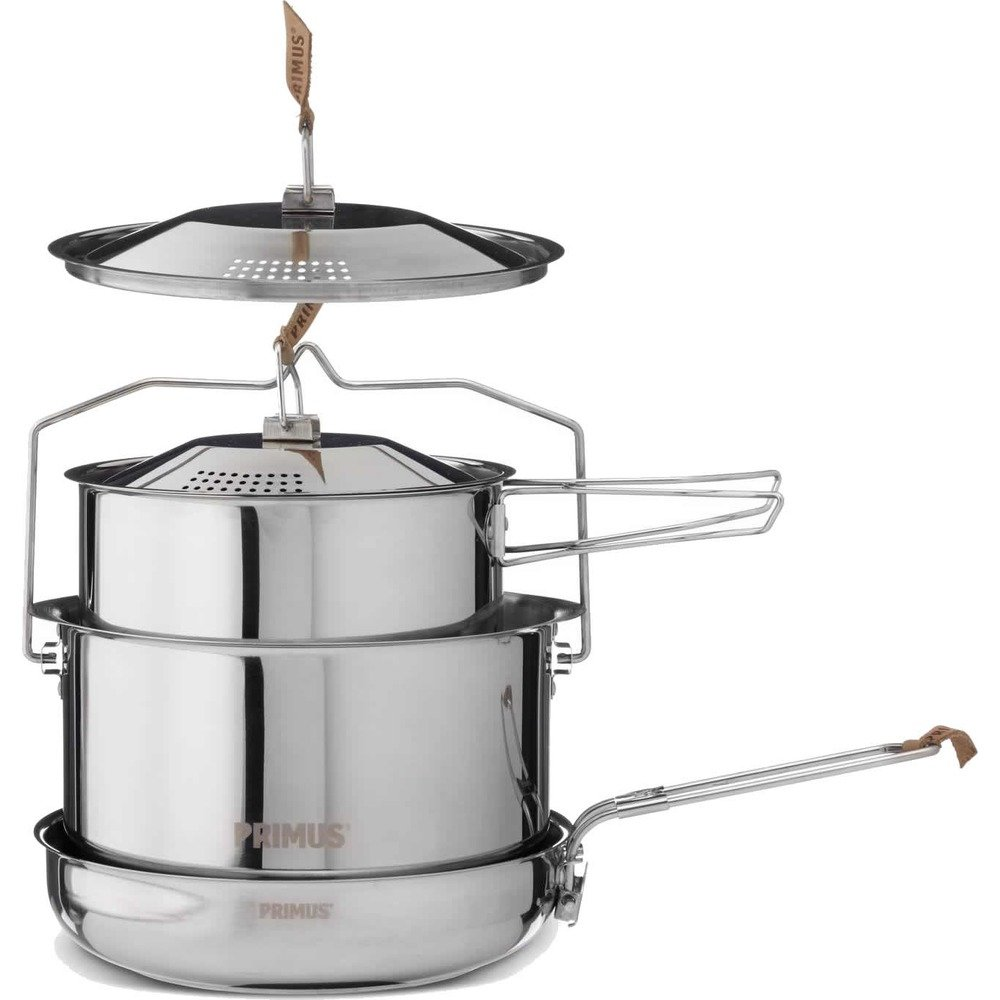 Relags stainless steel pot set Camp Fire – Primus Set, Silver, L RELGV|#Relags P-738001