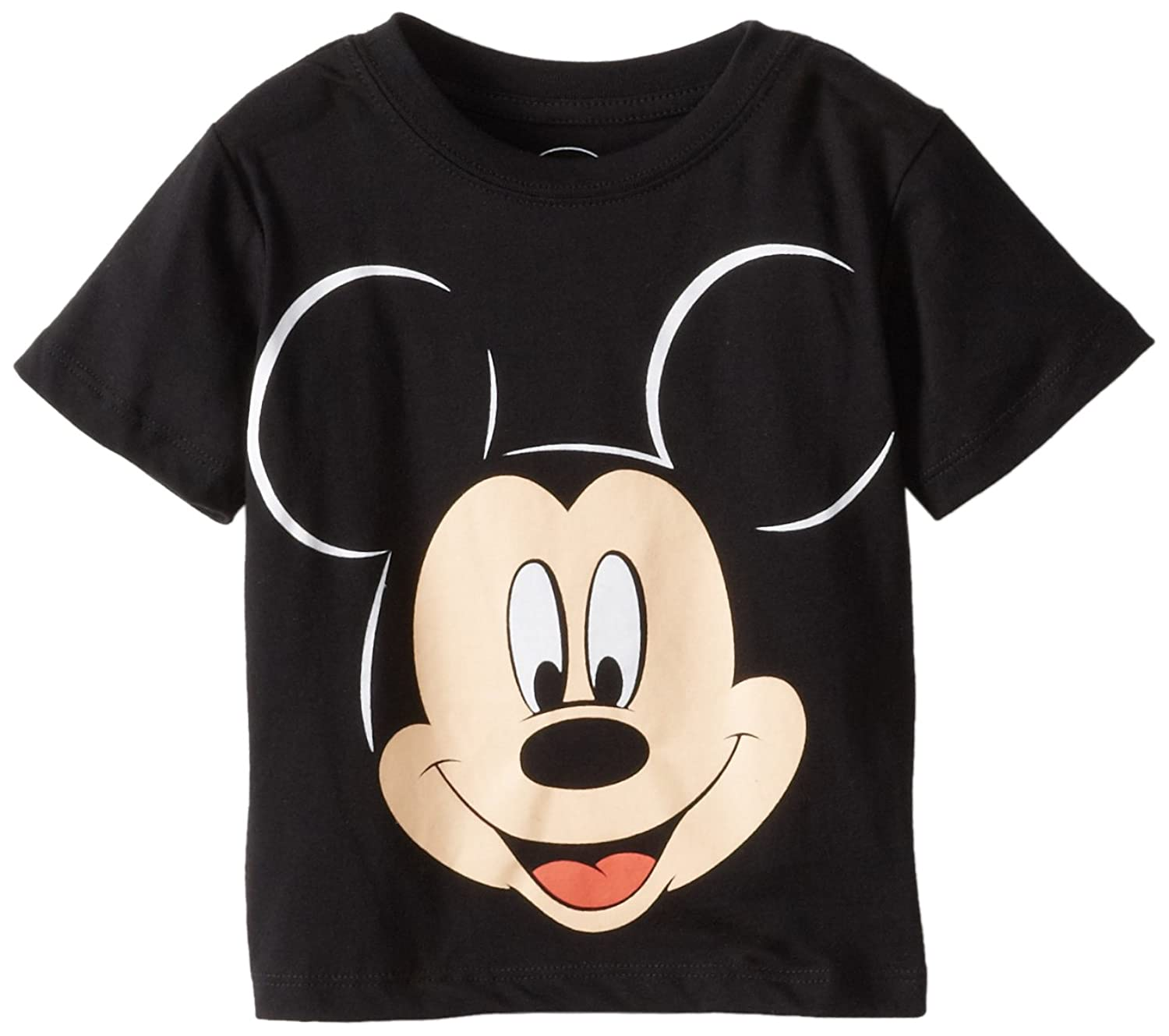 Amazon.com: Disney Mickey Mouse Boys' Face T-Shirt: Fashion T ...