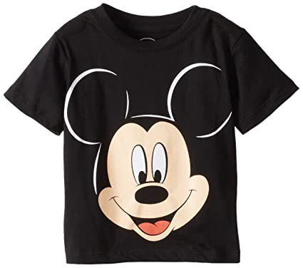 Amazon Com Disney Mickey Mouse Boys Face T Shirt Fashion T Shirts