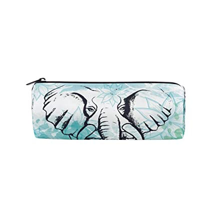 687b7957440a Amazon.com : BETTKEN Zipper Pencil Case Tribal Boho Animal Elephant ...