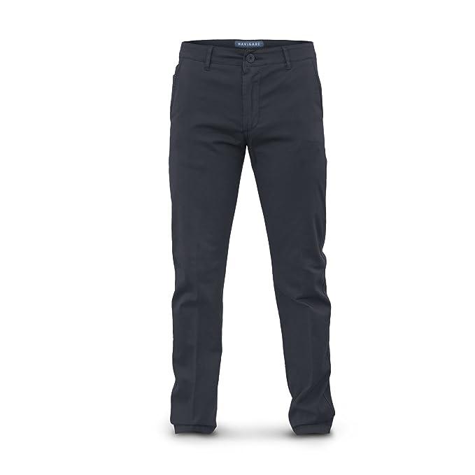Navigare Pantalone Uomo Cotone Elasticizzato Vari Colori Art.55028 (Blu  001-52) 62384b6b0af