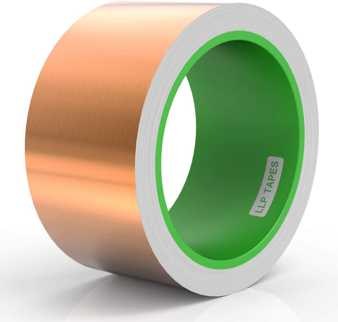 """LLPT Copper Foil Tape 2"""" x 33 Feet 3.15 Mil Dual Conductive Mult Sizes for EMI Shielding Stained Glass Circuit Crafts Slug Moss Repellent Electrical Repairs Grounding Strong Adhesive (CF500)"""