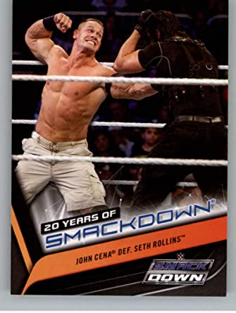 2019 Topps WWE Smackdown Live 20 Years of SmackDown #SD-31 John Cena Wrestling Trading Card