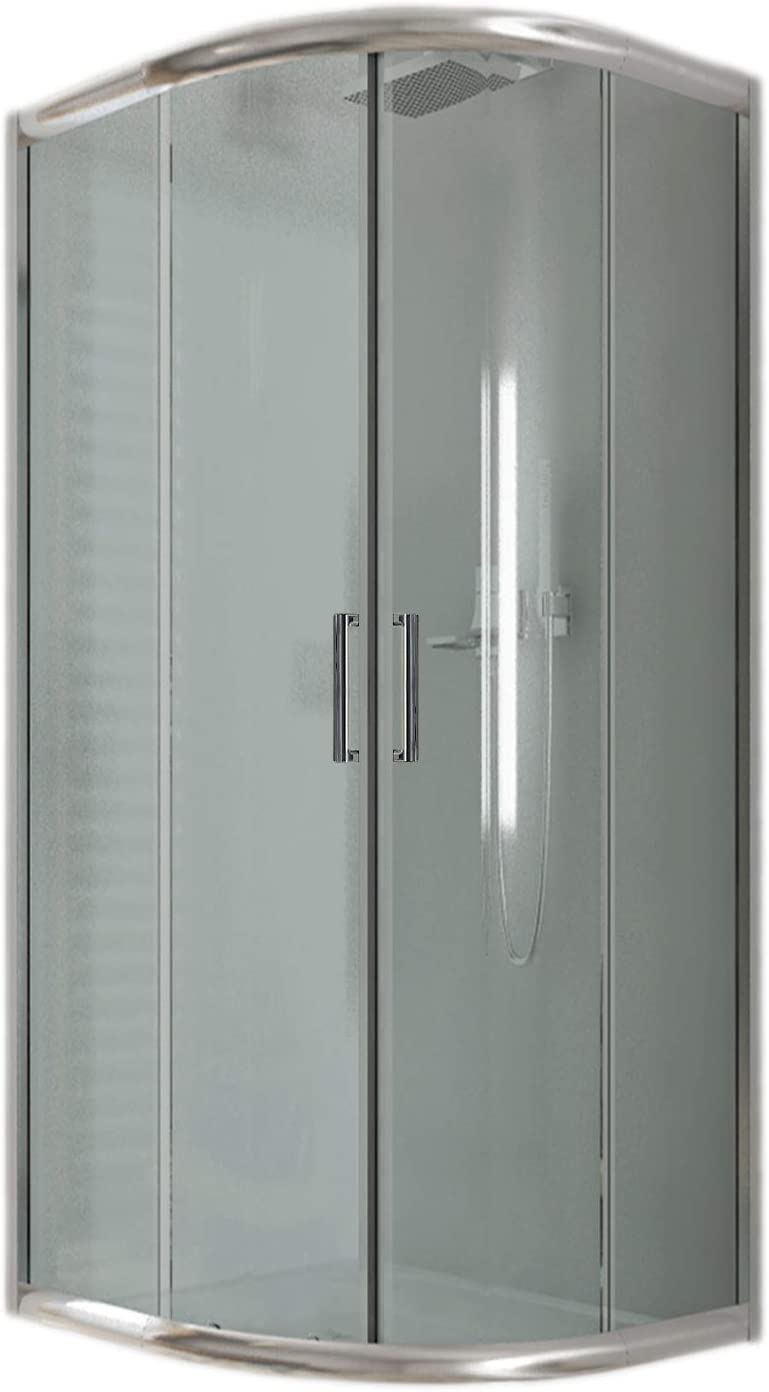 Cabina de ducha semicircular, 80 x 80 x 185 cm, transparente, 6 mm ...