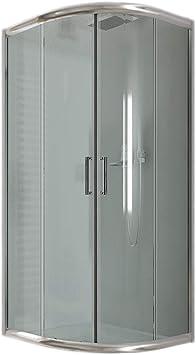 Idralite Box Mampara de Ducha Semicircular 80x80 H185 Transparente ...
