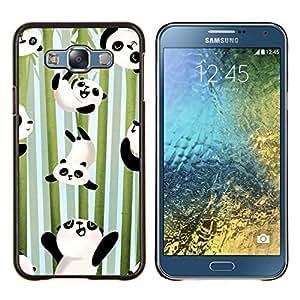 Planetar® ( Felices bambú Japón Cute Kids ) Samsung Galaxy E7 E700 Fundas Cover Cubre Hard Case Cover