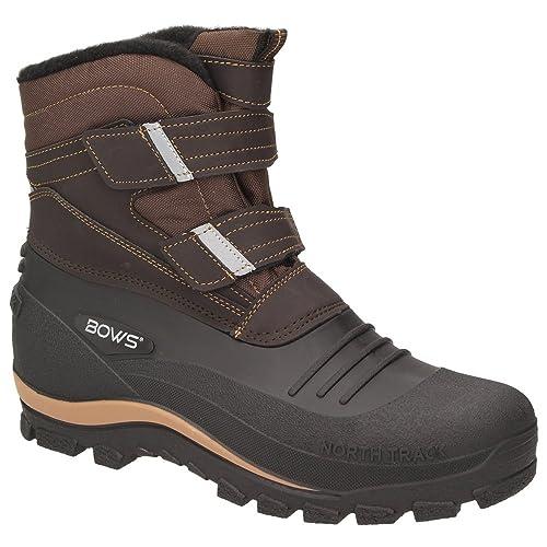 more photos b65fc 99b48 BOWS® -KNUD- Herren Schnee Stiefel Jungen Winter Boots Schuhe Warmfutter  Klettverschluss rutschhemmend Schneefang