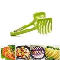 OUNONA Cuisine Trancheuse à Fruits et Légumes Clip Porte Tomate Citron et Outil Coupe-Vert