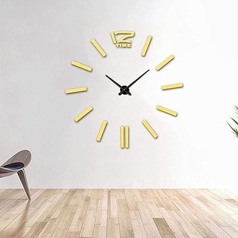 Amazon Com Wall Clocks 3d Wall Clocks Large Diy Hanging Acrylic