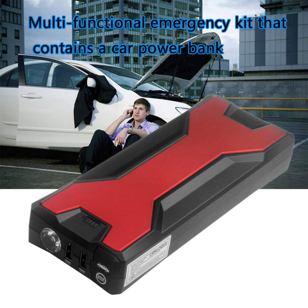 18000mAh Car Battery Charger Pack Jump Starter Multi Function Auto Emergency Power Bank for Starting Car (Black and Red) by STHfficial