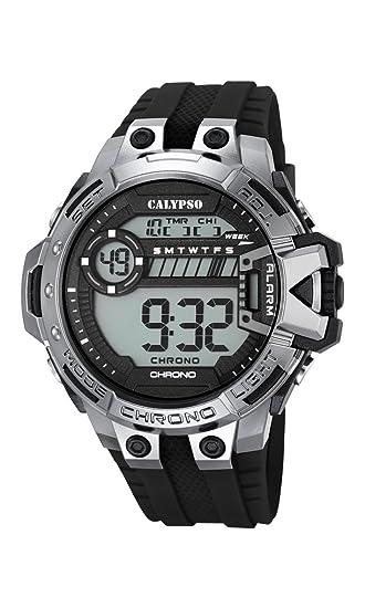 Calypso Hombre Reloj Digital con Pantalla LCD Pantalla Digital Dial y Correa de plástico en Color