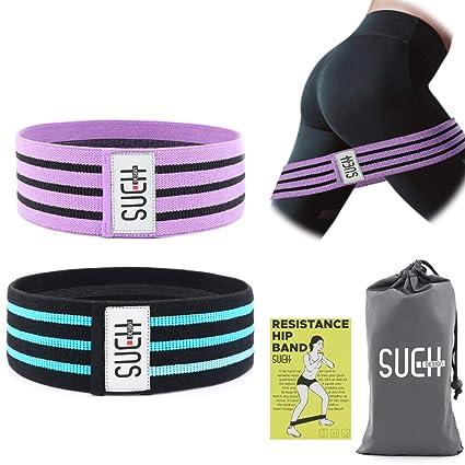 SueH Design Banda Elástica para Ejercicios en el Hogar y en Viajes | Adecuada para Yoga Pilates