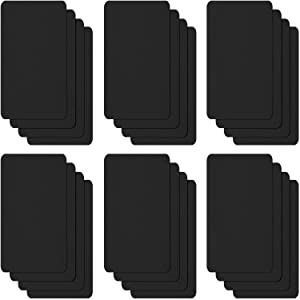 24 Pieces Nylon Repair Patches Self-Adhesive Nylon Patch Waterproof Repair Patches for Clothing Jacket Repair Holes Tearing (Black)