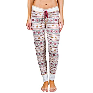 PJ Salvage Women's Lost in Wonder Fair Isle Banded Pant at Amazon ...