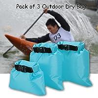 Decdeal Lixada Pack of 3 1L+2L+3L Waterproof Dry Bag Outdoor Portable Ultralight Dry Sacks Camping Backpacking Kayaking
