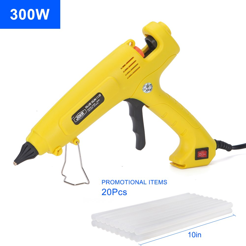 Hot Glue Gun with on/off switch, SUPERIORFE 300 Watt Professional High Temperature Rapid Heating Melt Glue Gun with 20 Pcs Premium Glue Sticks