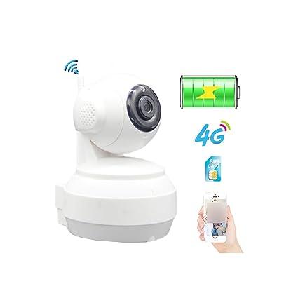Amazon.com: Tarjeta SIM 3G 4G batería incorporada cámara IP ...