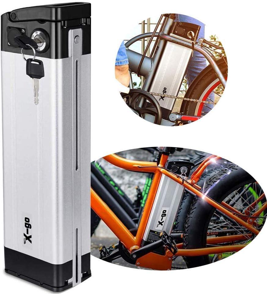 X-go Ebike Batería 48V/36V Li-Ion Batería para Bicicleta Eléctrica Scooter Tricyle Eléctrico con Cargador, Compatible con Motor 250W 350W 500W 700W 1000W