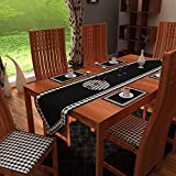 HOME HEART BRANDS DUCK COTTON BUFFALO CHECK COUNTRY FASHION TABLE RUNNER SET- 6 TABLE MAT 13'' X19'' & 1 CENTRE TABLE RUNNER 13''X 72''(PACK OF SEVEN)