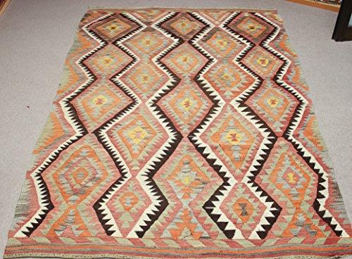 Turkish Oriental Kilim rug 9,1x5,9 feet Area rug Old Rug Bohemian Kilim Rug Floor rug Sofa Decor Rustic Kilim Rug Decorative design