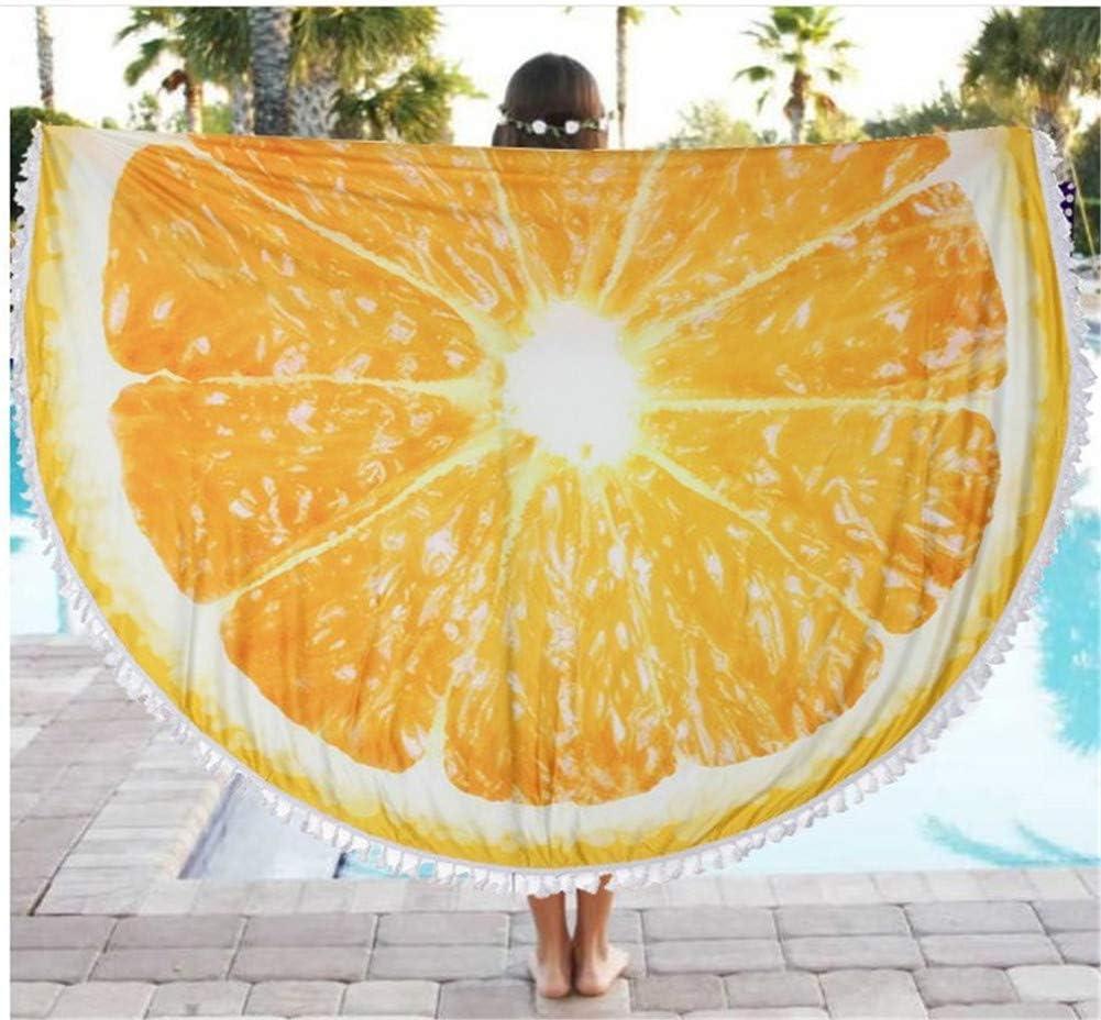 Picknick Rund Indisches Mandala Yogamatte Tischdecke Schal Hava Kolari Strandtuch mit Quaste Strand Freizeit A