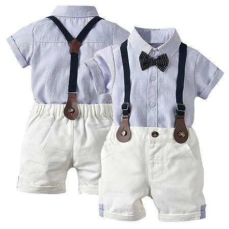 Boddenly - Conjunto de traje de caballero de manga corta para bebé ...