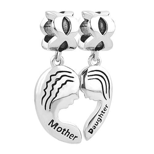Breloques mère et fille Uniqueen - Pour bracelets Biagi et Troll e67dbd8274cb