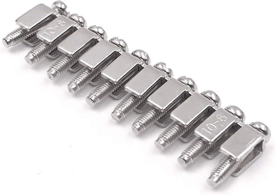 Couvertures Rail en Aluminium Ensembles de Cavaliers Supports DExtr/éMit/é Naliovker Ensemble de Borniers sur Rail DIN les Blocs Terminal Terre