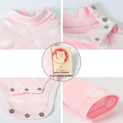 7066a917a3b8 Amazon.com  ALLAIBB Baby Boy Collared Bodysuit Long Sleeve Onesies ...