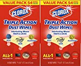 Clorox Triple Action Dust Wipes, 108 Count