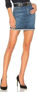 product image for rag & bone Women's Dive Classic 100% Cotton Denim Fringed Hem Mini Skirt, 25