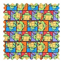 SheetWorld Ninja Turtles Poses Fabric - By The Yard - 101.6 cm (44 inches)