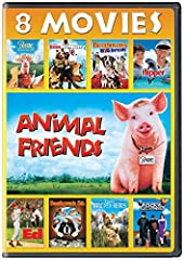 Animal Friends 8-Movie Collection includes Babe: Pig in the City, Beethoven's 5th, Beethoven's Big Break, Evan Almighty, The Adventures of Rocky and Bullwinkle, Ed, Flipper and Two Brothers.