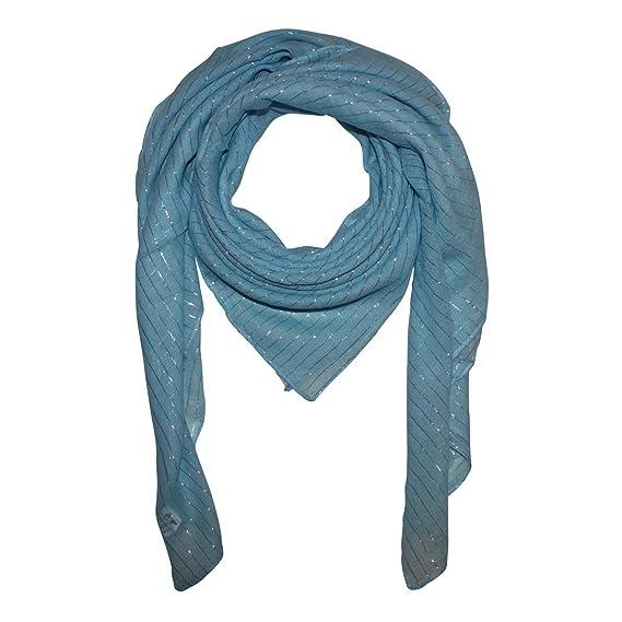 braun Lurex silber Baumwolltuch quadratisches Tuch