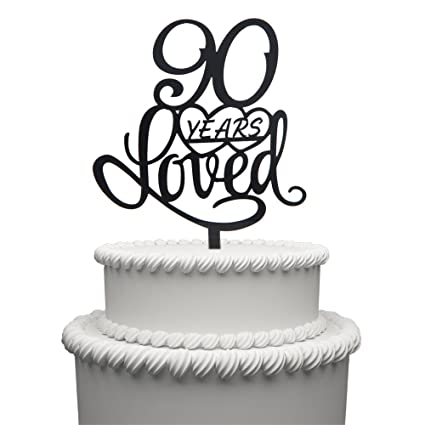 HAPPY BIRTHDAY CAKE TOPPER LARGE SILVER GLITTER ACRYLIC SIGN
