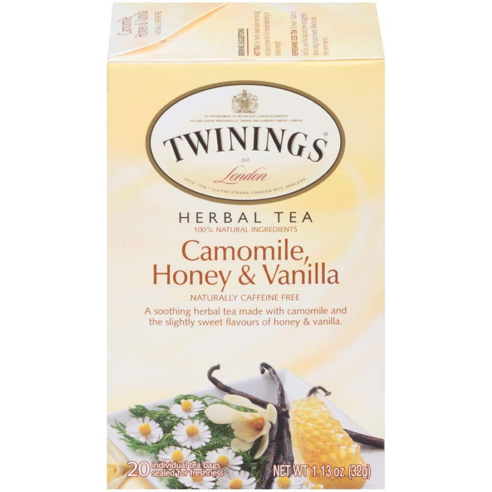Twinings of London Camomile, Honey & Vanilla Herbal Tea Bags, 20 Count